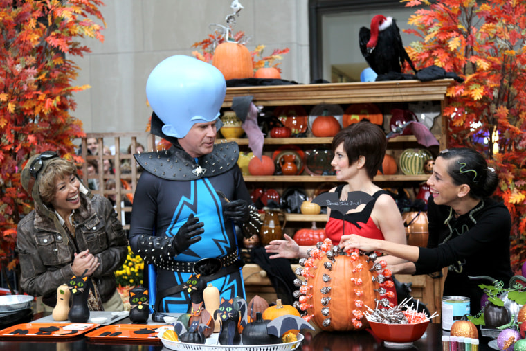 TODAY hosts, along with Tina Fey and Will Ferrell display their costumes at 30 Rockefeller Plaza in New York