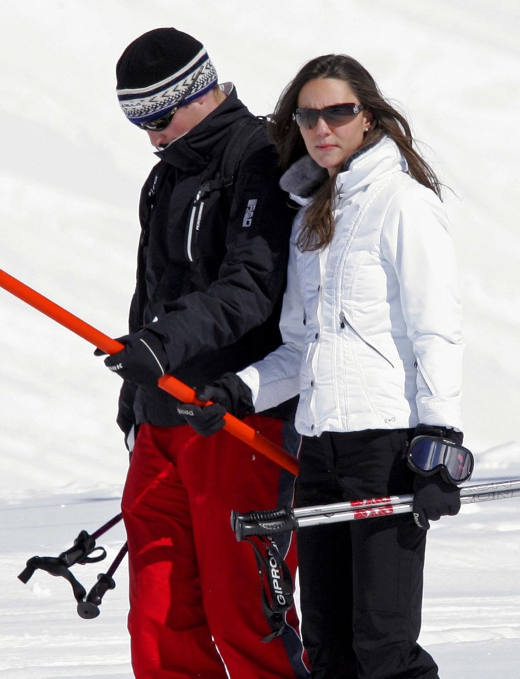 Prince William and Kate Middleton skiing in Klosters, Switzerland - 19 Mar 2008