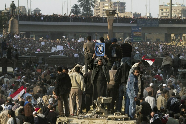 Image: Egyptian protestors opposed to President