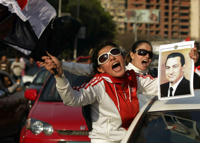 Image: Egyptian supporters of embattled Preside