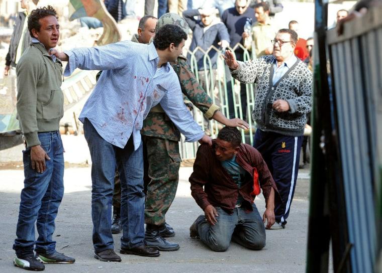 Image: Egyptian anti-government protestors (C)