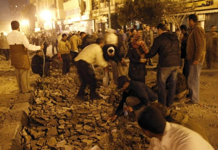 Image: Egyptian anti-government demonstrators b