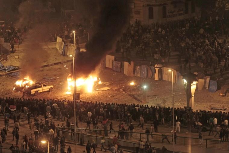 Image: Protesters clash in Cairo