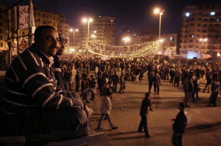 Image: Demonstrations in Tahrir Square, Cairo