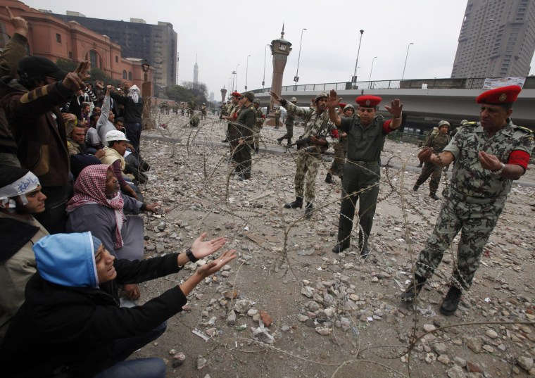 Image: Opposition supporters near Tahrir Square in Cairo