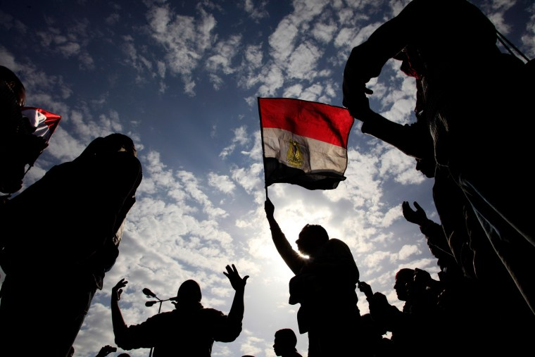 Image: Egyptian anti-Mubarak protesters
