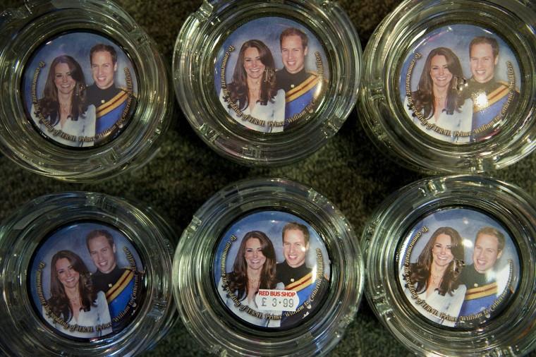 Image: Souvenir ashtrays for the royal wedding