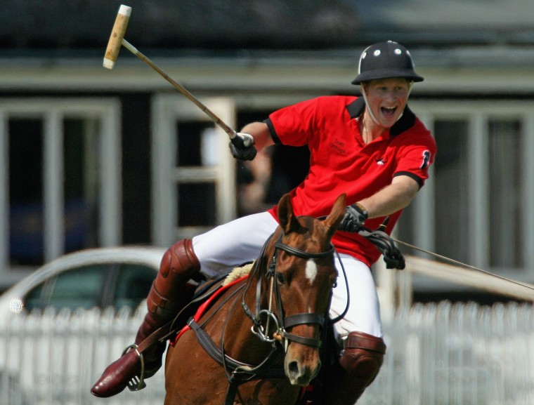 Prince Harry Plays Polo At Cirencester Polo Club
