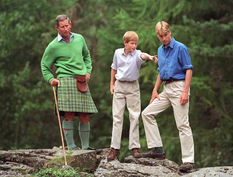 Charles William Harry At Balmoral