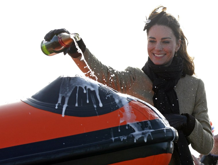 Kate Middleton, the fiancee to Britain's