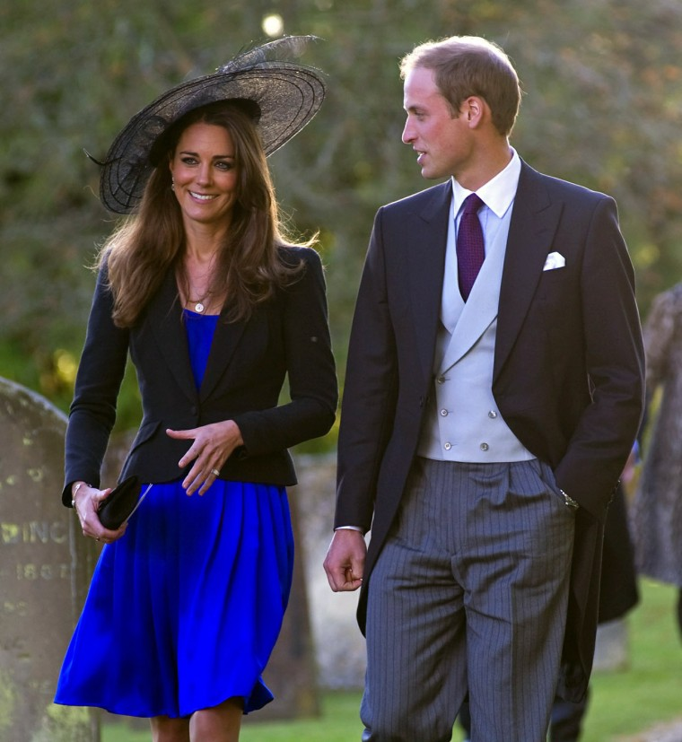 Image: Image: Prince William and Kate Middleton Attend Harry Meade And Rosie Bradford's Wedding