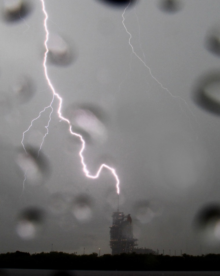 Image: Space Shuttle Launch Delayed by Lightning
