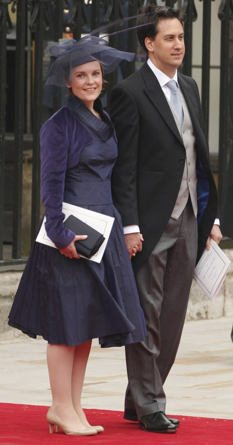 Image Britain S Labour Leader Ed Miliband And Fiancee Justine Thornton Leave After The Wedding Ceremony
