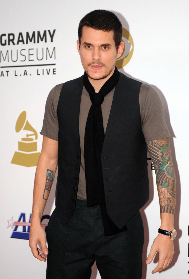 Singer John Mayer arrives at Nokia Theat