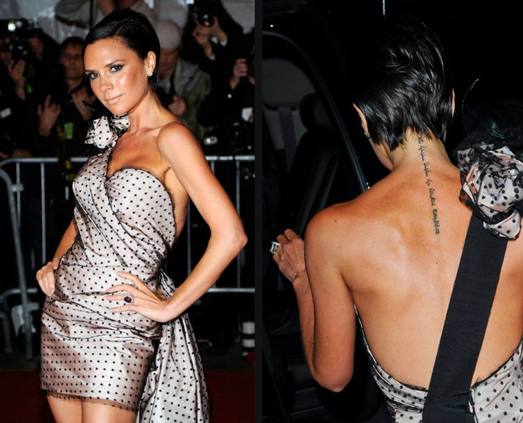 """NEW YORK - MAY 04:   Victoria Beckham attends """"The Model as Muse: Embodying Fashion"""" Costume Institute Gala at The Metropolitan Museum of Art on May 4, 2009 in New York City.  (Photo by Larry Busacca/Getty Images) *** Local Caption *** Victoria Beckham"""