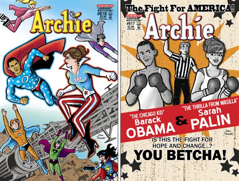 Image: Archie Comics, Obama v. Palin