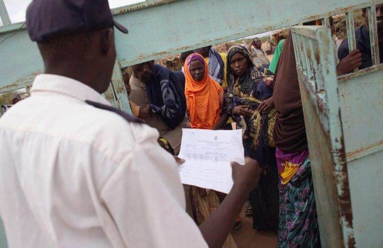 Image: Refugees Flock To Dadaab As Famine Grips Somalia