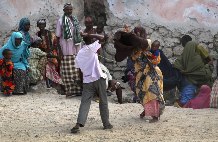 Image: Somali Famine Refugees Seek Aid In Mogadishu