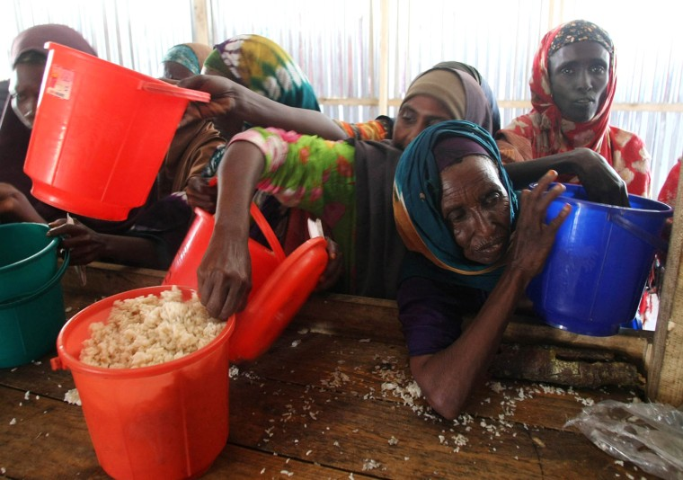 Image: South African Relief Group Reaches Refugees In Famine Stricken Somalia