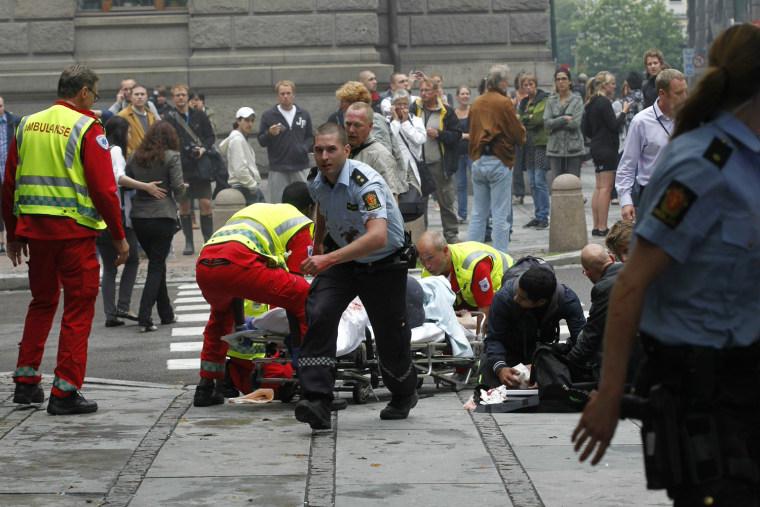 Image: Oslo bomb explosion