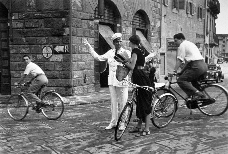 Asking Directions, Florence, Italy, 1951