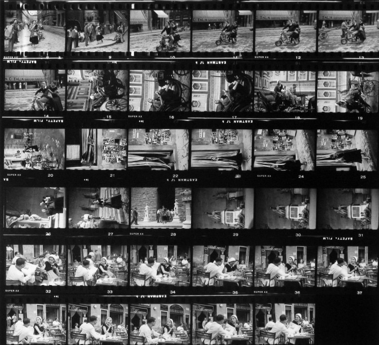 American Girl in Italy, Contact Sheet #2, 1951
