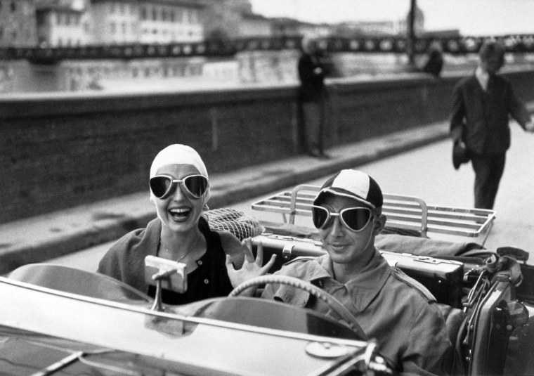 Couple in MG, Florence, Italy, 1951