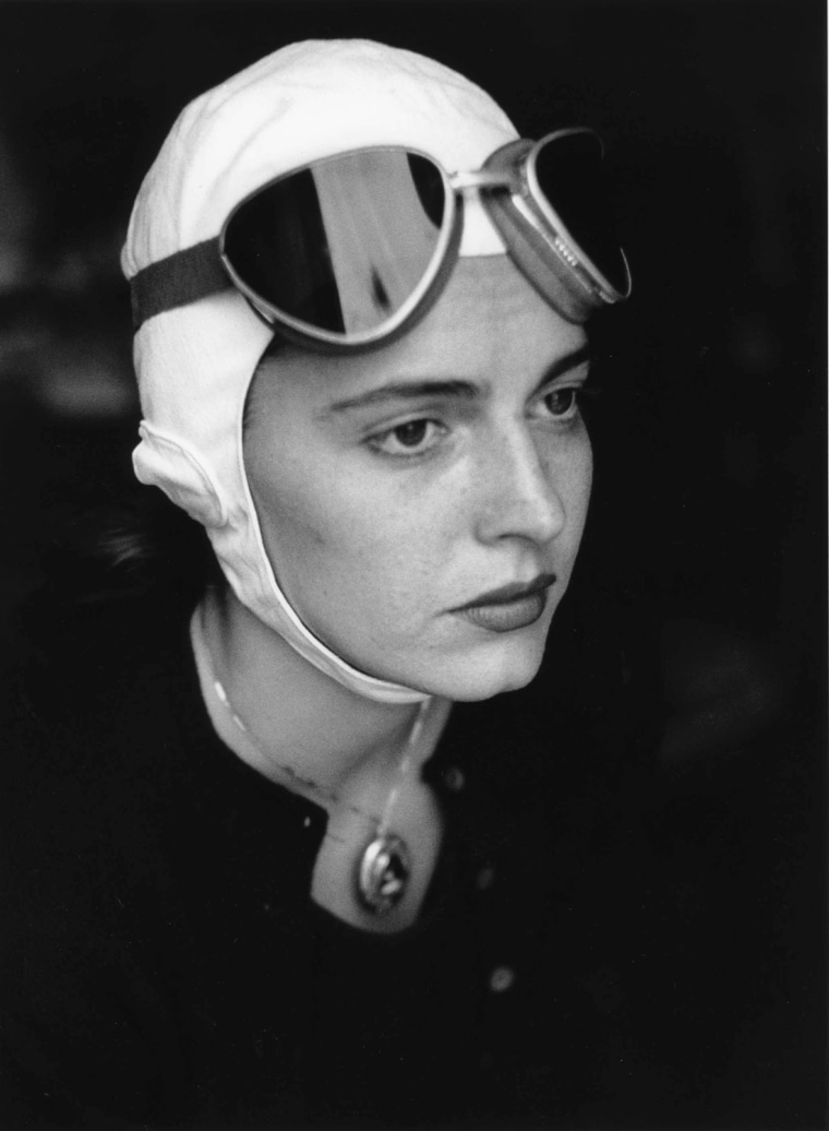 Jinx in Goggles, Florence, Italy, 1951