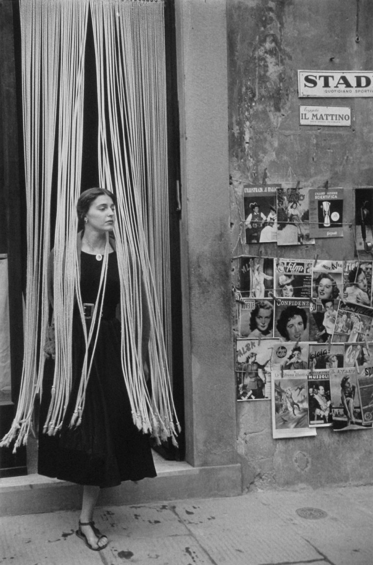 Jinx through the Beads, Florence, Italy, 1951