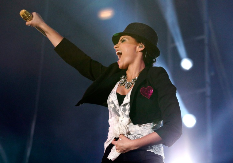 Image: Nelly Furtado performs in Lisbon, Portugal