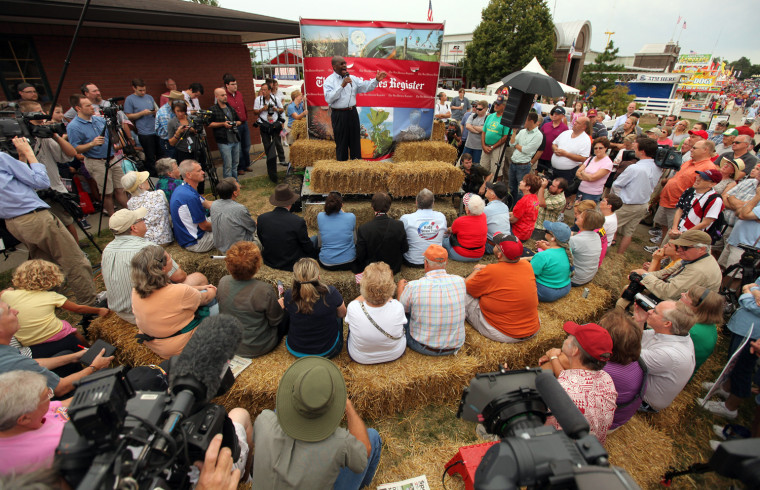 Image: Republican Candidates Campaign At Iowa State Fair