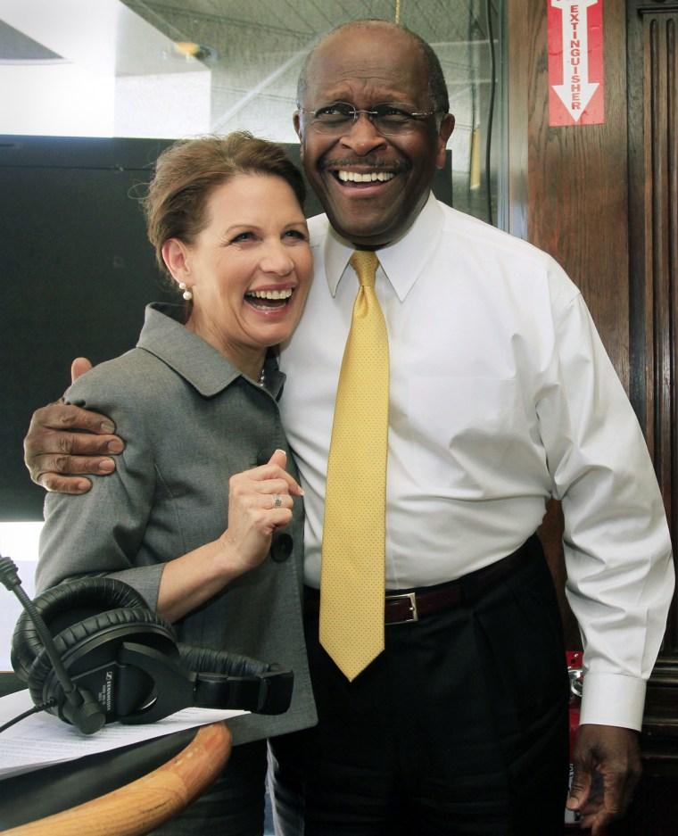 Michele Bachmann, Herman Cain