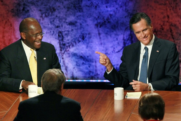 Image: Republican Presidential Candidates Debate On Economy In New Hampshire