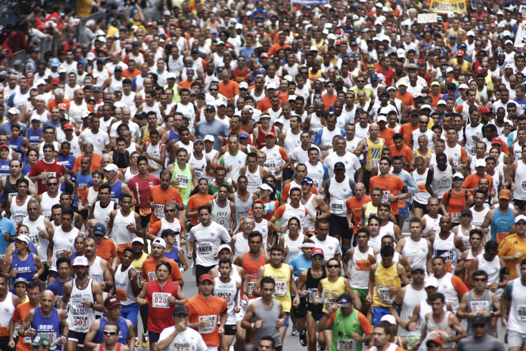 Image: Runners take part in the 86th Sao Silves