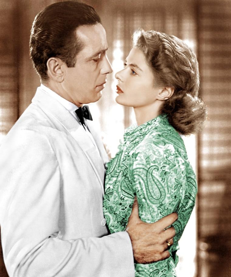 CASABLANCA, from left: Humphrey Bogart, Ingrid Bergman, 1942
