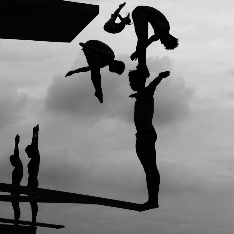 "Image: Adam Pretty of Australia, a Getty Images photographer, has won the second prize Sports Stories with the ""World Swimming Championships"" series"