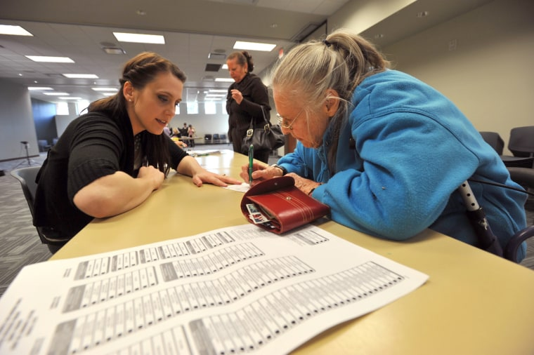 Image: Voters participate in the Super Tuesday primary in Nashville, Tennessee
