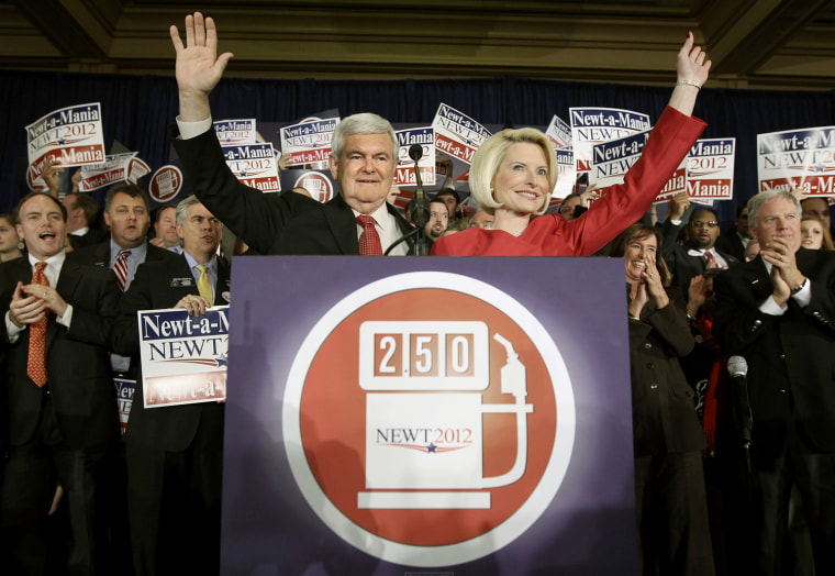 Image: Gingrich Holds Election Rally After Winning Georgia On Super Tuesday