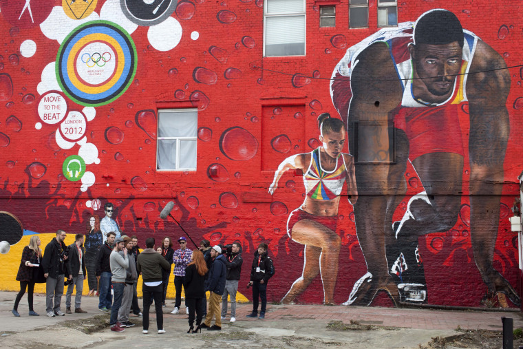 Coca Coca launches new Olympic Games themed mural