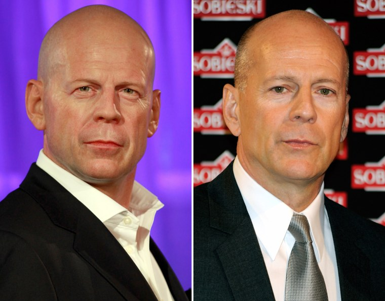 LONDON, ENGLAND - FEBRUARY 14:  A waxwork model of Bruce Willis at Madame Tussauds on February 14, 2011 in London, England. The waxwork of the actor has been unveiled for Valentine's Day in responce to suggestions from the public on who they wanted as their Valentine's 'Heartthrob'.  (Photo by Chris Jackson/Getty Images)  MADRID, SPAIN - JUNE 21:  Bruce Willis attends Sobieksi Vodka photocall and press conference at the Ritz Hotel on June 21, 2010 in Madrid, Spain.  (Photo by Fotonoticias/WireImage) *** Local Caption *** Bruce Willis
