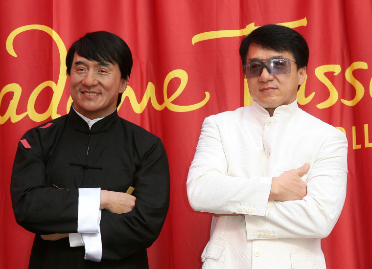 Actor Jackie Chan attends the unveiling