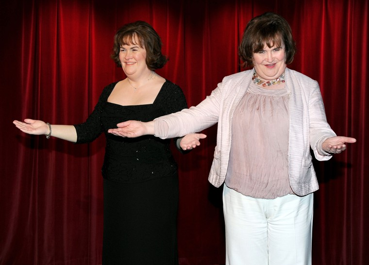 Susan Boyle Unveils Her new Wax Figure