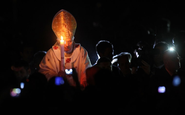 Image: Pope Benedict XVI celebrates Easter vigil mass