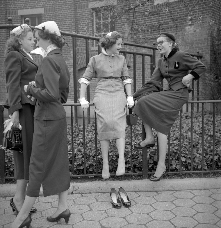 "This photo, entitled, ""School Girls,"" captured a candid moment in 1953."