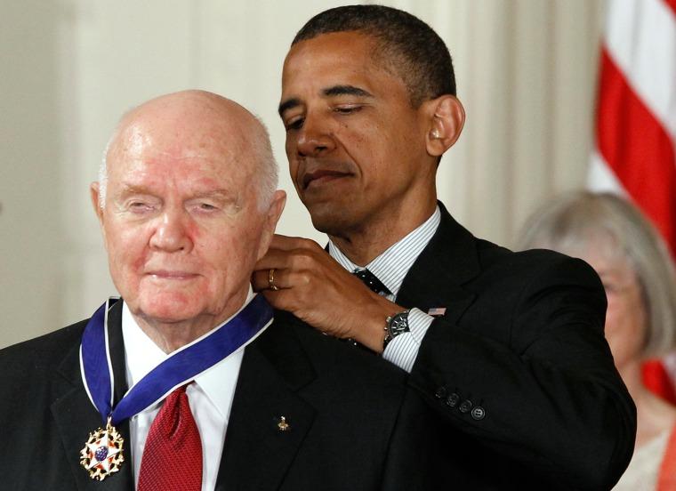 Image: Barack Obama, John Glenn