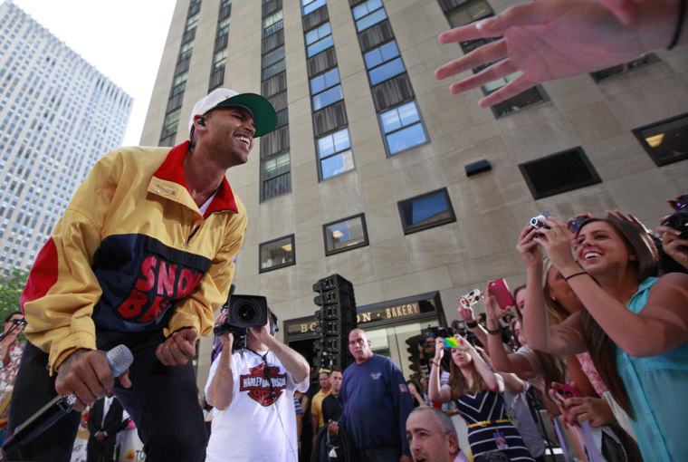 Image: Singer Chris Brown performs on NBC's 'Today' show in New York