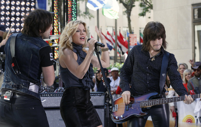 Image: Members of The Band Perry perform on NBC's Today show in New York
