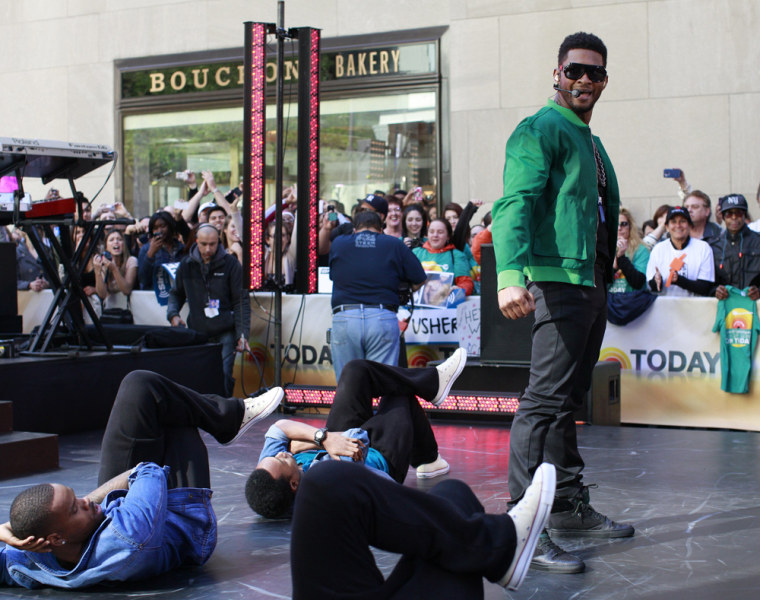 Image: Singer Usher performs on NBC's 'Today' show in New York