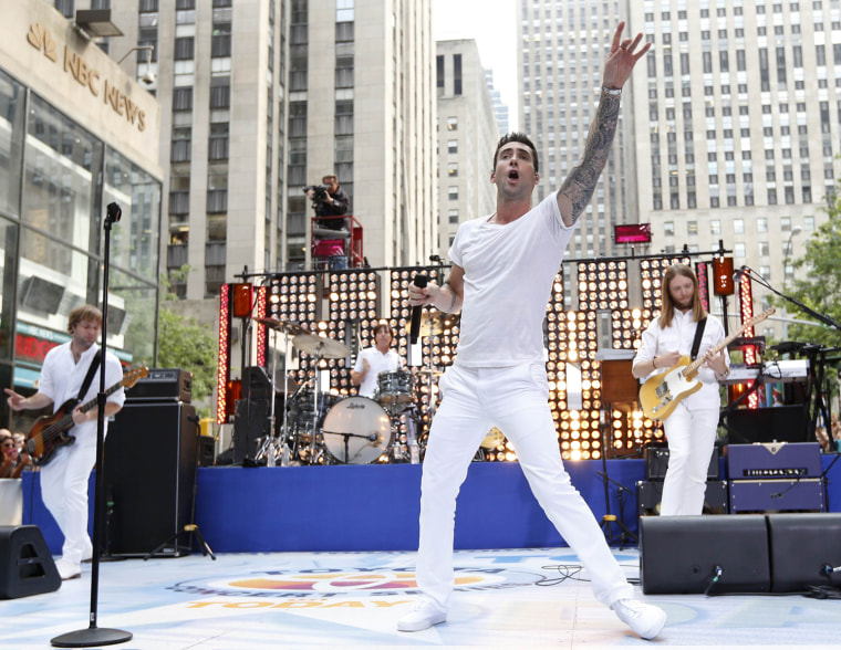 Image: Singer Adam Levine performs with his band Maroon 5 on NBC's 'Today' show in New York