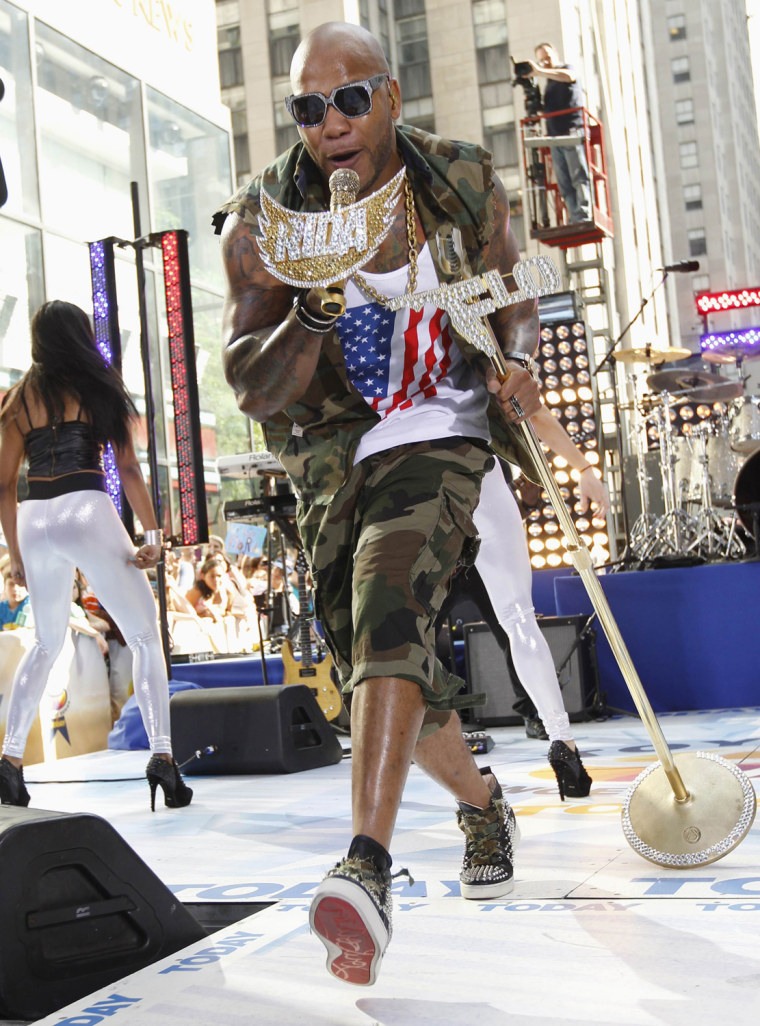 """Image: Singer Flo Rida performs on NBC's """"Today"""" show in New York"""